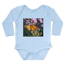 Monarch Butterfly on Purple Milkweed Body Suit