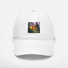 Monarch Butterfly on Purple Milkweed Baseball Baseball Baseball Cap