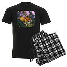 Monarch Butterfly on Purple Milkweed Pajamas