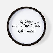 My Sis, Best Bro Wall Clock