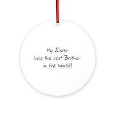 My Sis, Best Bro Ornament (Round)