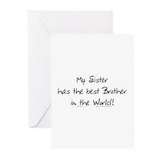 My Sis, Best Bro Greeting Cards (Pk of 10)