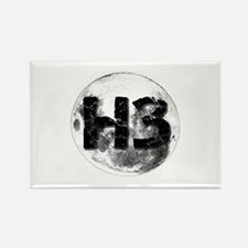 H3 On The Moon Rectangle Magnet