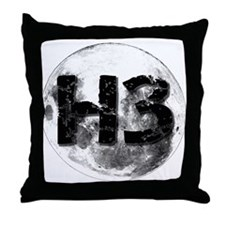H3 On The Moon Throw Pillow