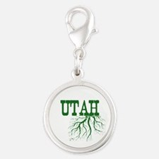 Utah Roots Silver Round Charm