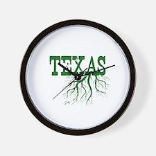 Texas Roots Wall Clock