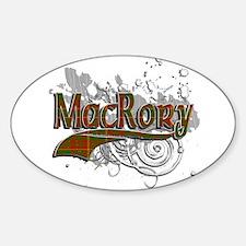 MacRory Tartan Grunge Sticker (Oval)