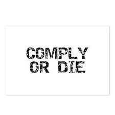 Comply Or Die Postcards (Package of 8)