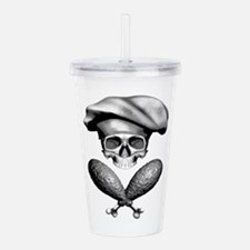 Chef Skull: Crossed Acrylic Double-Wall Tumbler