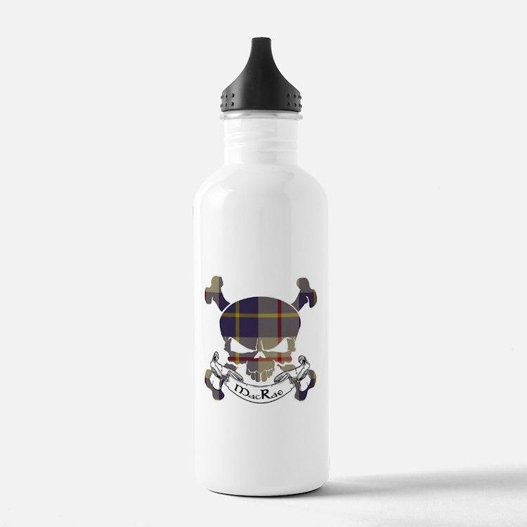 MacRae Tartan Skull Water Bottle