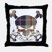 MacRae Tartan Skull Throw Pillow