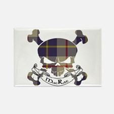 MacRae Tartan Skull Rectangle Magnet