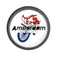 Amsterdam Bicycle Wall Clock