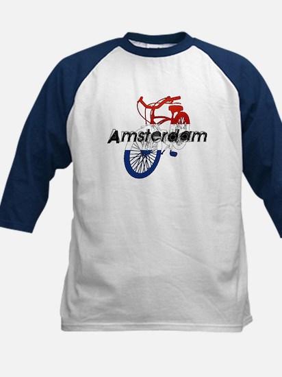 Amsterdam Bicycle Kids Baseball Jersey