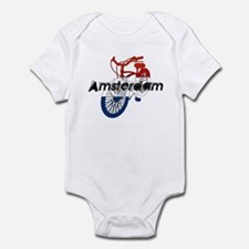 Amsterdam Bicycle Infant Bodysuit