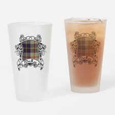 MacRae Tartan Shield Drinking Glass
