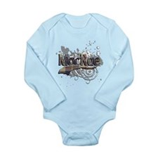 MacRae Tartan Grunge Long Sleeve Infant Bodysuit