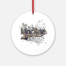 MacRae Tartan Grunge Ornament (Round)
