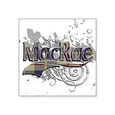 "MacRae Tartan Grunge Square Sticker 3"" x 3"""