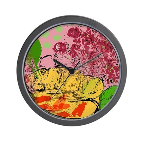 Plants and Fish Bowl Wall Clock