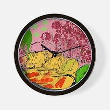 Plants and Fish Bowl Wall Clock