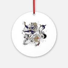 MacRae Tartan Lion Ornament (Round)