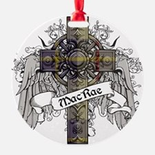 MacRae Tartan Cross Ornament