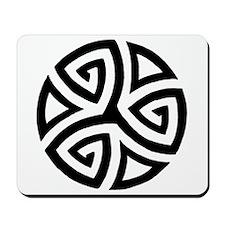 Celtic Trinity Design Circle Mousepad