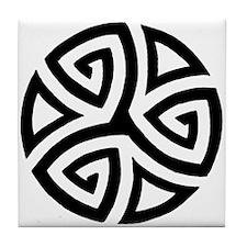 Celtic Trinity Design Circle Tile Coaster