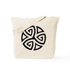 Celtic Trinity Design Circle Tote Bag