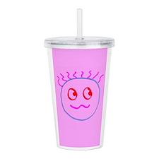 Pink Goofball Gee Head Acrylic Double-Wall Tumbler