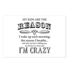 Reason I'm Crazy Postcards (Package of 8)