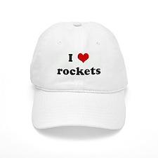 I Love rockets Baseball Cap
