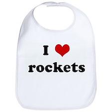 I Love rockets Bib