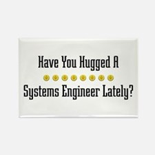 Hugged Systems Engineer Rectangle Magnet