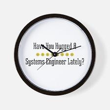 Hugged Systems Engineer Wall Clock