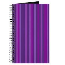 Purple & Magenta Stripes Journal