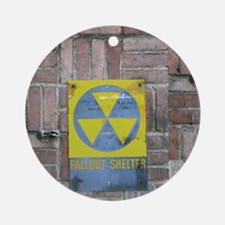 Fallout Shelter Sign Round Ornament
