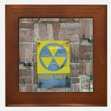 Fallout Shelter Sign Framed Tile