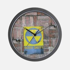 Fallout Shelter Sign Wall Clock