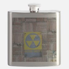 Fallout Shelter Sign Flask