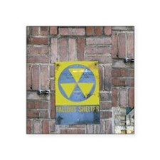 """Fallout Shelter Sign Square Sticker 3"""" x 3"""""""