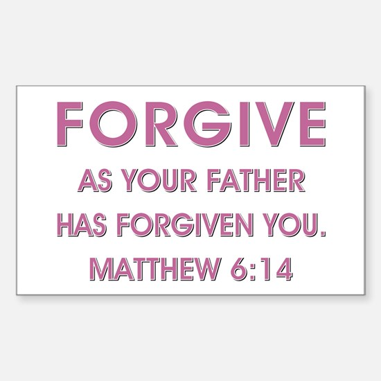 FORGIVE Sticker (Rectangle)