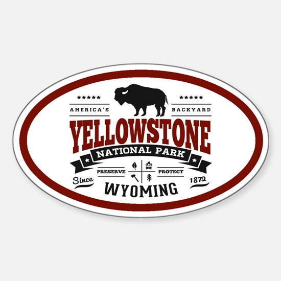 Yellowstone Vintage Sticker (Oval)