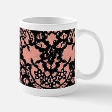 cute pink vintage lace pattern Mugs