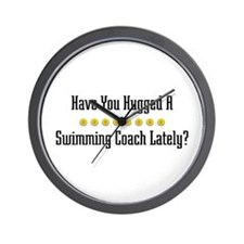 Hugged Swimming Coach Wall Clock