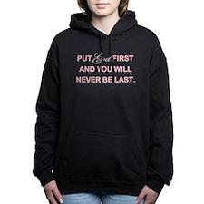 PUT GOD FIRST Women's Hooded Sweatshirt