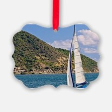 AS scenic of Sail boats in Road H Ornament