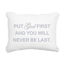 PUT GOD FIRST Rectangular Canvas Pillow