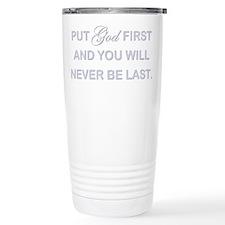 PUT GOD FIRST Thermos Mug